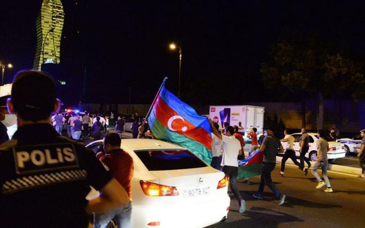Binlerce Azerbaycanlı seferberlik için sokaklara döküldü