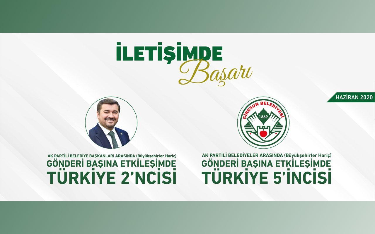 Giresun Belediyesi İletişimde Ülke Çapında Başarıdan Başarıya Koşuyor!