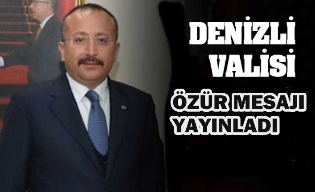 Denizli Valisi Ali Fuat Atik özür diledi!