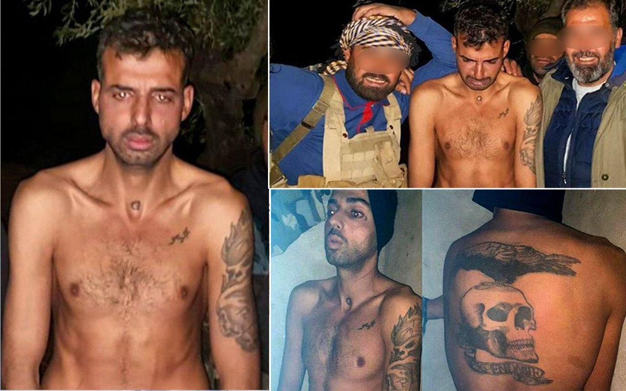 Vücudu şeytan dövmeli olan terörist yakalandı!
