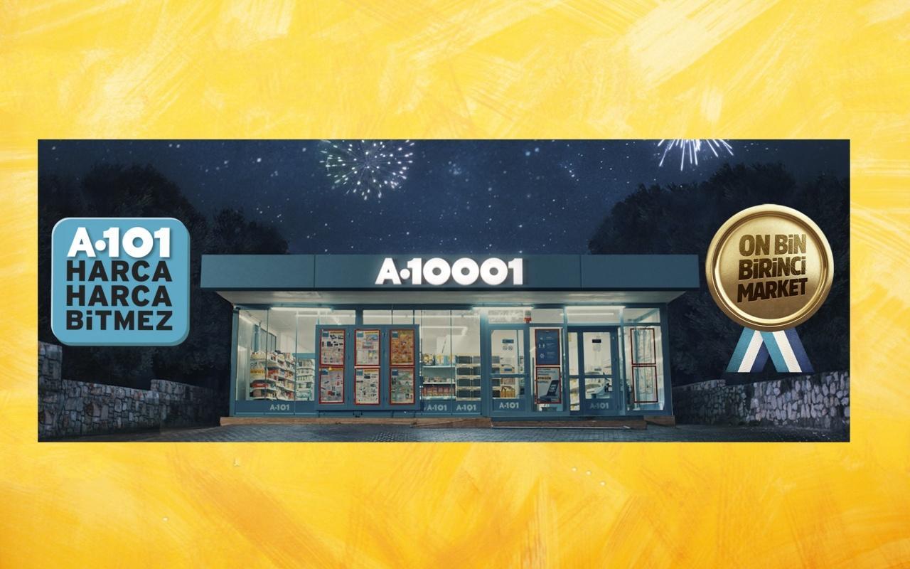 A101 Türkiyedeki on bin birinci marketini açtı