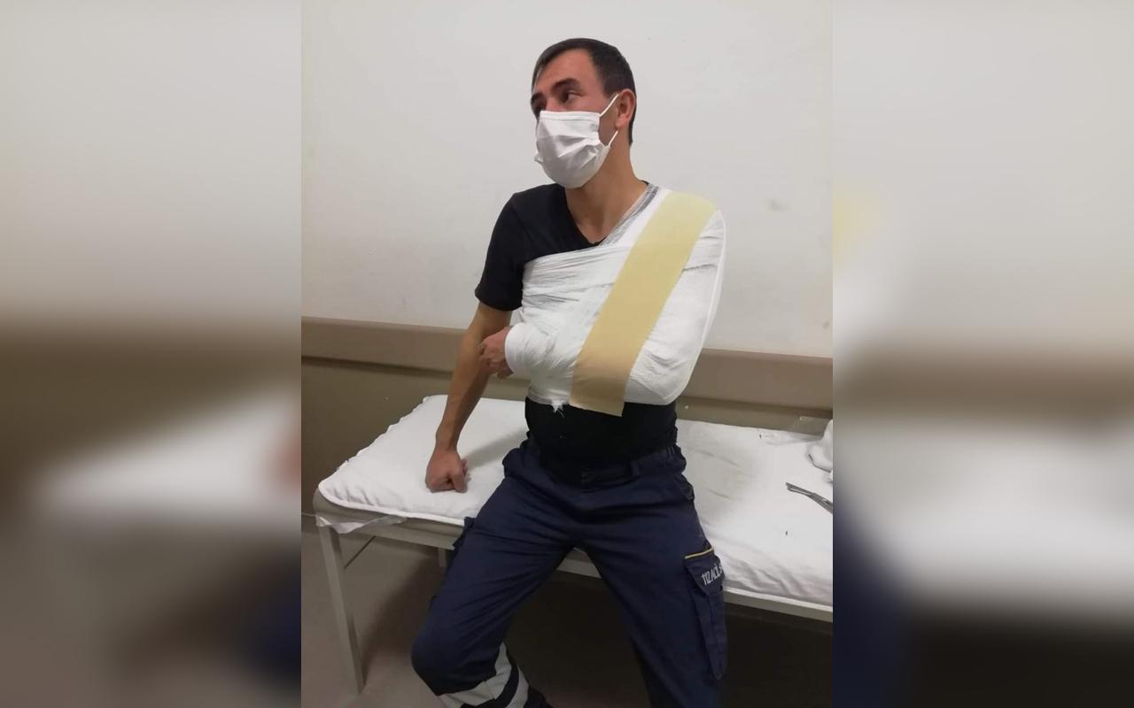 Kayseri'de 3 maganda ambulans şoförünü darp etti