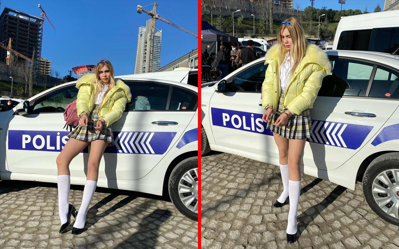 Aleyna Tilki'nin kelepçeli pozları Sosyal Medyayı salladı!