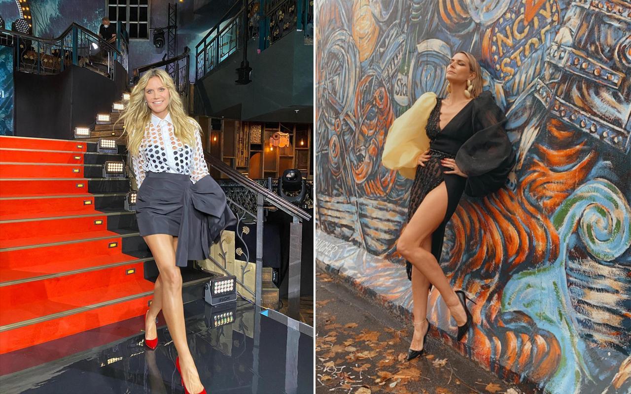 Alman model Heidi Klum yatak pozuyla sosyal medyayı yıktı!