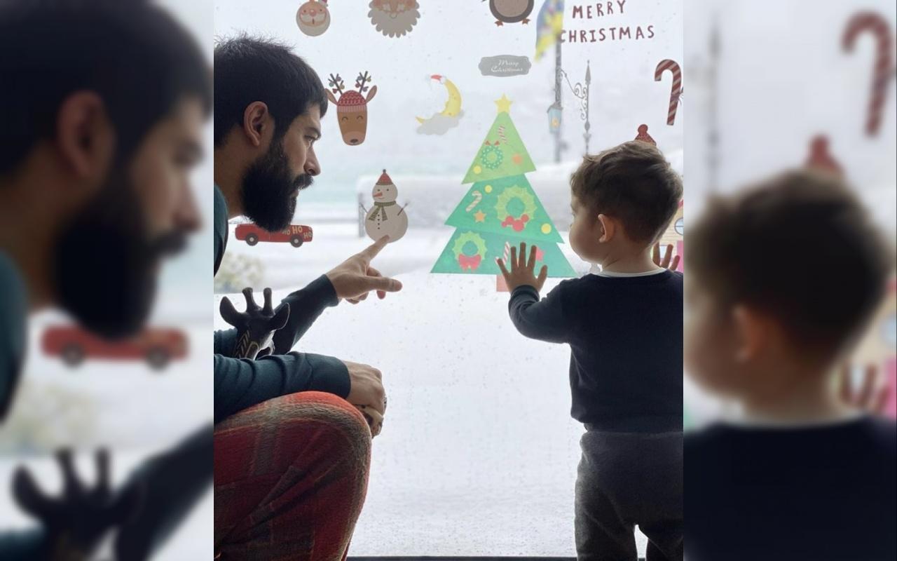 Fahriye Evcen ile Burak Özçivit çiftinin oğlu Karan karla tanıştı