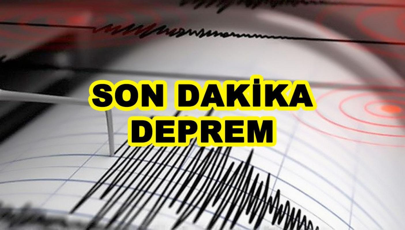 Son Dakika İzmir'de 4 büyüklüğünde deprem