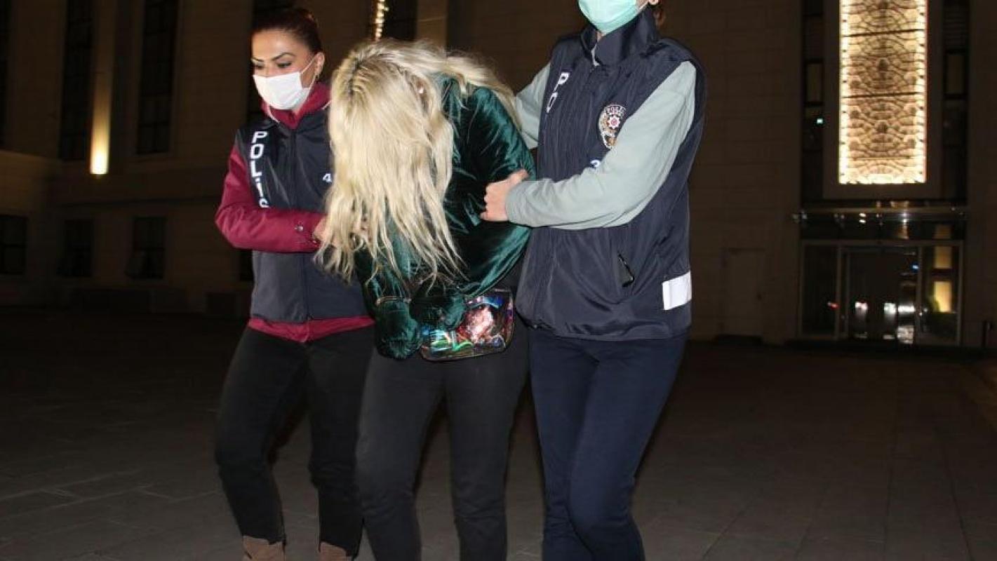 Uyuşturucu içerken Ümitcan Uygun'un yanında olan kadında yakalandı