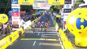 Polonya Bisiklet Turu Finishinde Kaza