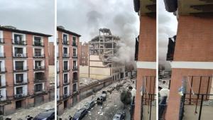 İspanya'nın başkenti Madrid'de şiddetli patlama meydana geldi!
