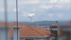 Sakarya'da yaşanan patlamanın ilk görüntüleri!